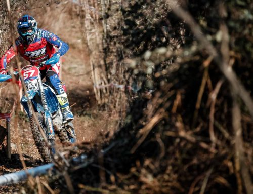 EnduroGP riders warming up at the Italian Enduro Championship